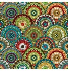Boho chic flower seamless pattern elegant vector