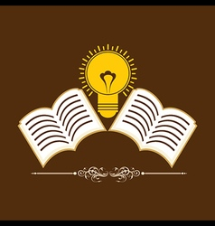 Book icons background with bulb stock vector