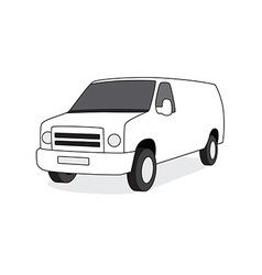 Delivery van front view vector image vector image