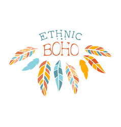 Ethnic boho style element hipster fashion design vector
