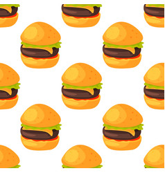 Fast food seamless pattern natural menu restaurant vector