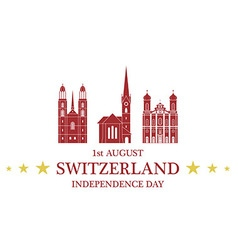Independence Day Switzerland vector image vector image
