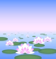 Lotus pond vector