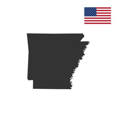 Map of the us state of arkansas vector