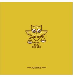 owl logo justice vector image vector image