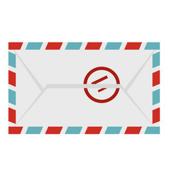 Postage envelope with stamp icon isolated vector