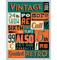 Retro Vintage Background with Typography vector image vector image
