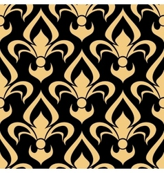 Royal french seamless fleur-de-lis pattern vector