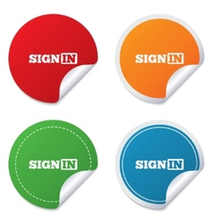 Sign in icon Join symbol vector image