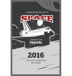 Vintage astronautics poster vector