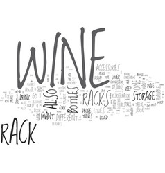 Wine accessories a wine lover s mark text word vector