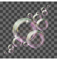 Abstract background with transparent bubbles vector