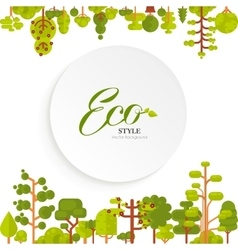 Green trees and bushes top bottom vector