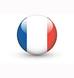 Round icon with national flag of france vector