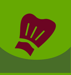 chef cap icon kitchen hat items vector image