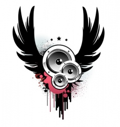 Music insignia vector