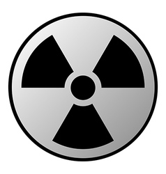 Radiation sign button vector