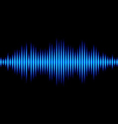 Blue sound waveform with triangular light filter vector