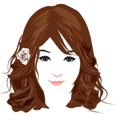 Beautiful face 1 vector