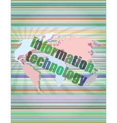 Digital information technology concept background vector