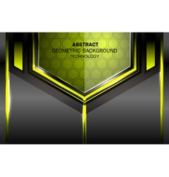 Geometric tech green background vector