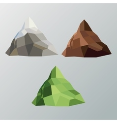 Mountain icon polygonal image graphic vector