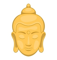 Head of buddha icon cartoon style vector
