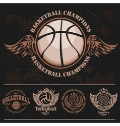 Basketball logos american logo sports vector