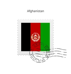 Afghanistan flag postage stamp vector