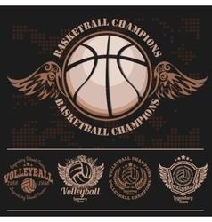 Basketball logos american logo sports vector