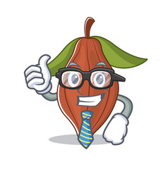 Businessman cacao bean character cartoon vector