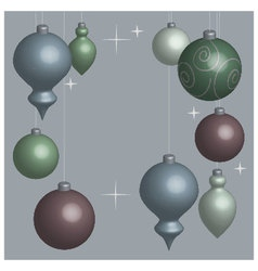 Card christmas balls soft vector