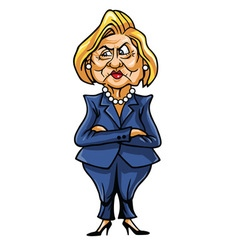 Caricature of hillary clinton vector