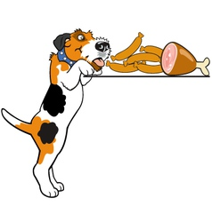 cartoon fox terrier vector image