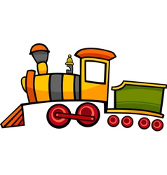 cartoon train or locomotive vector image