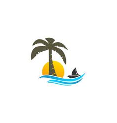 coconut tree logo vector image