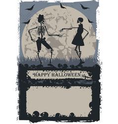 Couple skeleton dancing vector