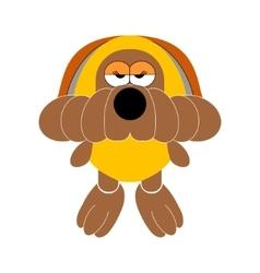 Dog soft toy doggy vector