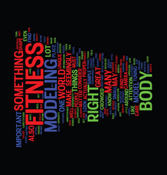 Fitness model text background word cloud concept vector