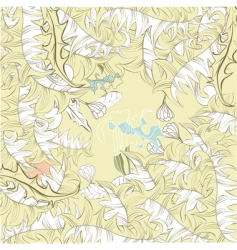 floral background with leaves vector image