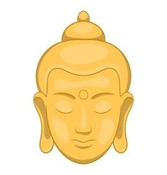 Head of buddha icon cartoon style vector