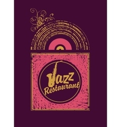 Jazz restaurant with saxophone vector
