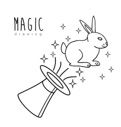 Magic graphic design vector image