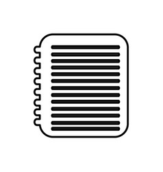 Notebook with paper writing icon vector