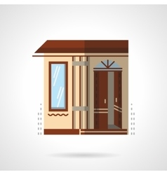 Post office building flat color design icon vector