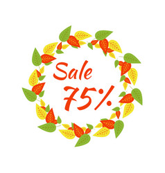 round frame with the text autumn sale 75 a vector image vector image