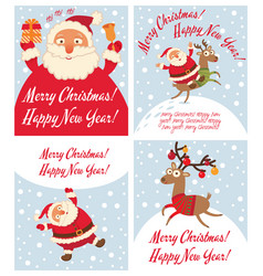 santa claus and christmas reindeer vector image