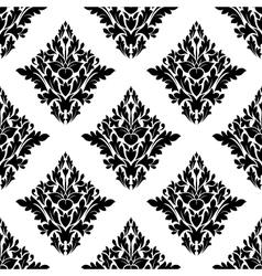 Seamless arabesque pattern in diamond shape vector