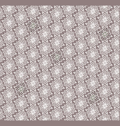 Seamless mosaic pattern abstract floral ornament vector