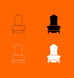 Throne icon vector